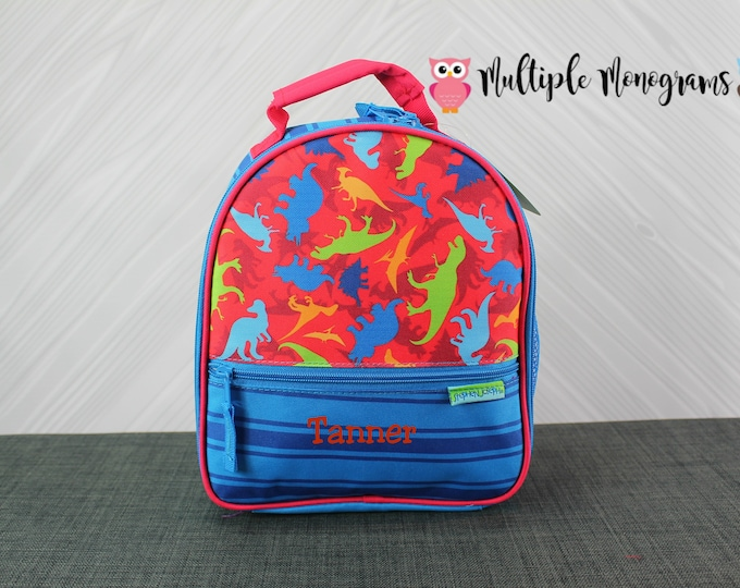Dinosaur Lunchbox toddler preschool kids FREE personalization