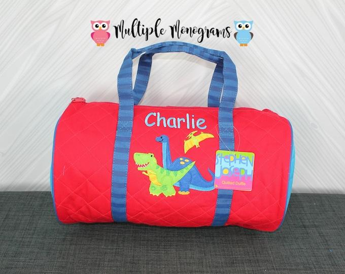 Dinosaur Kids Duffel Bag FREE Personalization