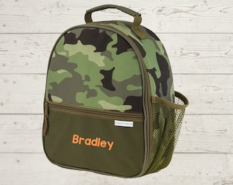 Camo Lunchbox toddler preschool kids FREE Embroidery personalization