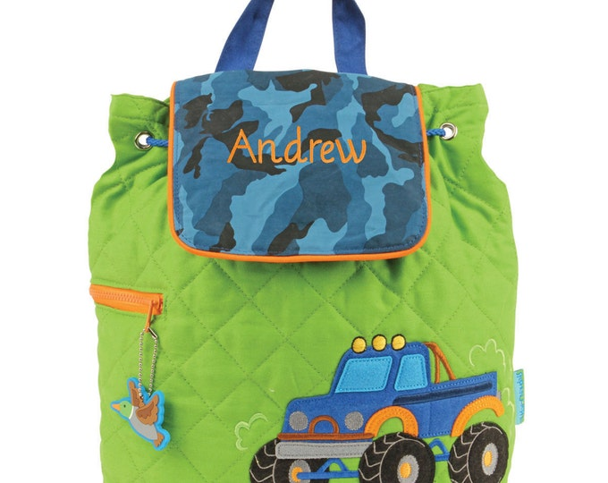 Monster Truck Backpack toddler preschool kids FREE Personalization
