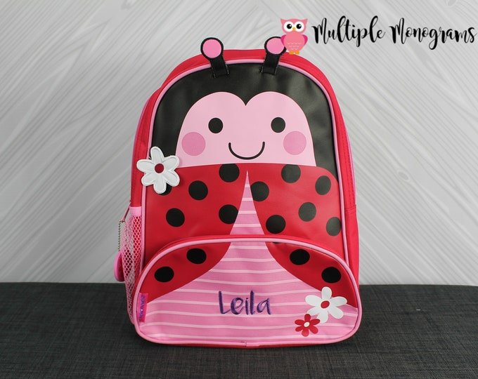 Ladybug NEW Style Sidekick Backpack toddler preschool kids FREE Personalization NEW design