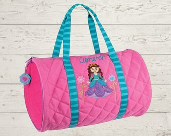 Princess Kids Duffel Bag FREE Embroidery Personalization