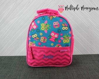 Owl Lunchbox toddler preschool kids FREE personalization
