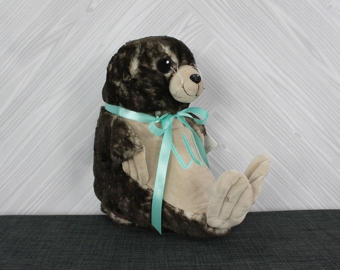 Personalized Sea Lion Stuffed Animals, Custom Personalization, Baby Shower New Baby Adoption Baptism Christmas Birthday gift