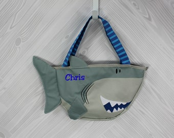 Shark Beach Tote toddler kids FREE personalization and sand toys included
