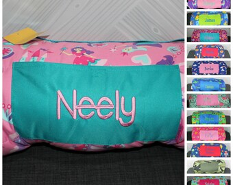Stephen Joseph Princess Nap Mat with pillow and blanket attached FREE personalization