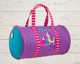 Llama Dance Kids Duffel Bag FREE Embroidery Personalization