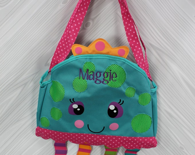 Jellyfish Beach Tote toddler kids FREE personalization and sand toys included