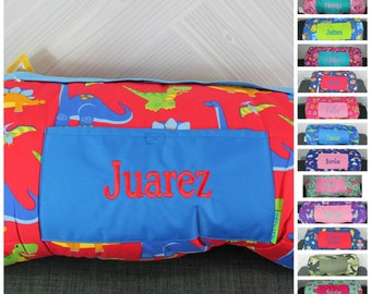 Stephen Joseph Dinosaur Nap Mat with pillow and blanket attached FREE personalization
