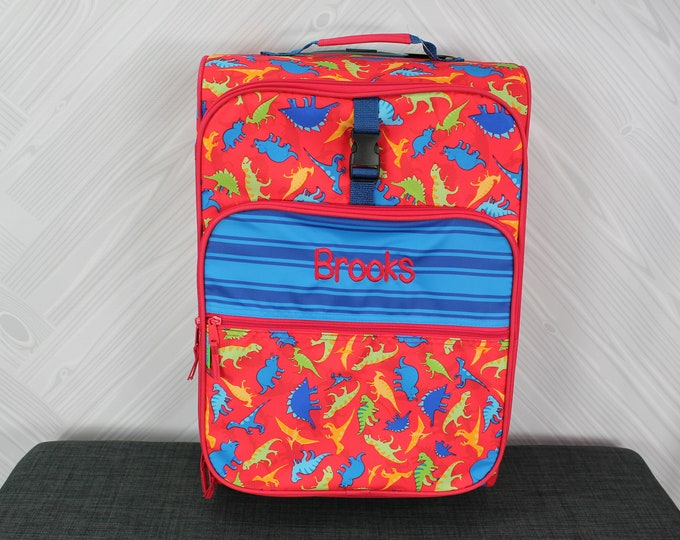 Dinosaur Rolling Luggage toddler preschool kids FREE personalization Carry On Size Luggage