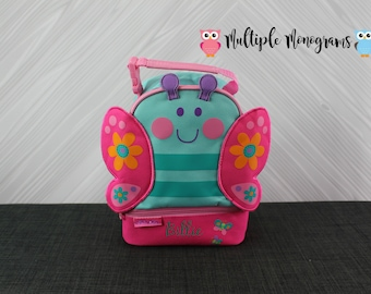 Butterfly Lunchbox toddler preschool kids FREE personalization