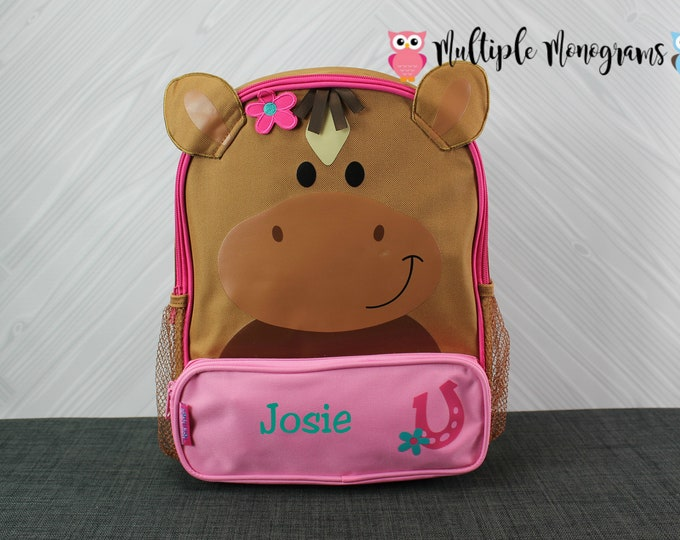 Horse Sidekick Backpack toddler preschool kids FREE Personalization