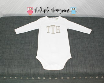 Monogrammed Bodysuit for Baby Boy