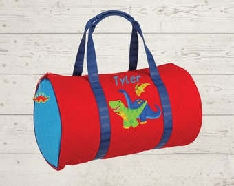 Dinosaur Kids Duffel Bag FREE Embroidery Personalization