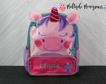 Unicorn Sidekick Backpack toddler preschool kids FREE Personalization