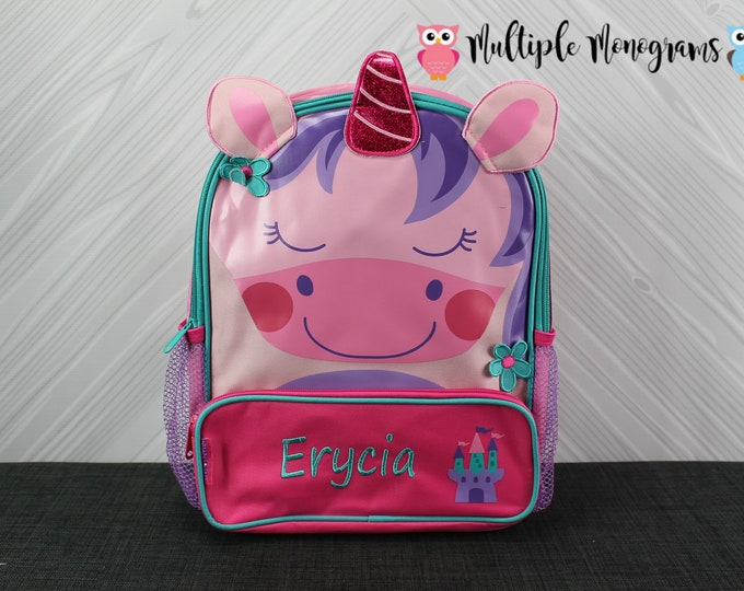 Unicorn Sidekick Backpack toddler preschool kids FREE Personalization