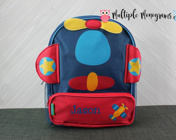 Airplane Backpack toddler preschool kids FREE Personalization
