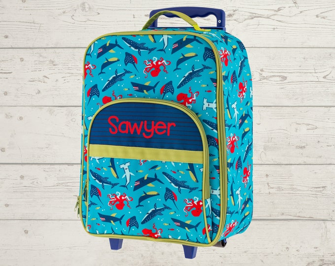 Sea World All Over Print Rolling Luggage FREE Embroidery Personalization