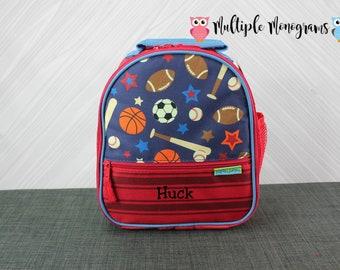 Sports Lunchbox toddler preschool kids FREE personalization Baseball Football Basketball Soccer