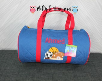 Sports Kids Duffel Bag FREE Personalization