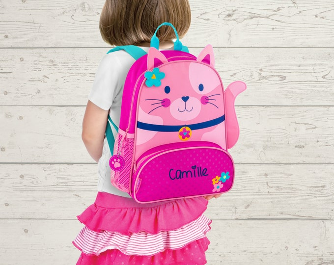 Cat Kitten NEW Style Sidekick Backpack toddler preschool kids FREE Embroidery Personalization NEW design