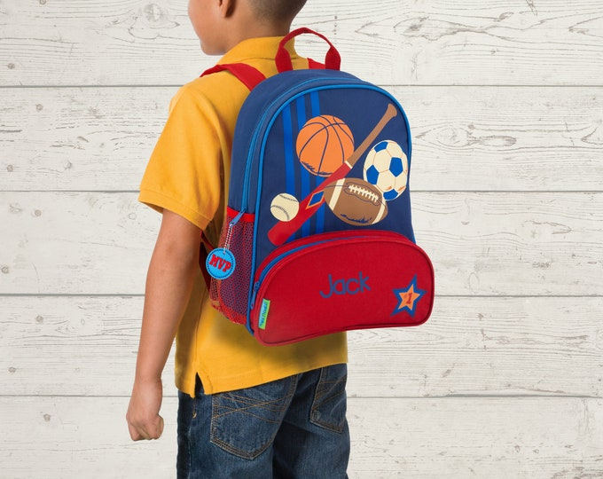 Sports NEW Style Sidekick Backpack toddler preschool kids FREE Embroidery Personalization NEW design