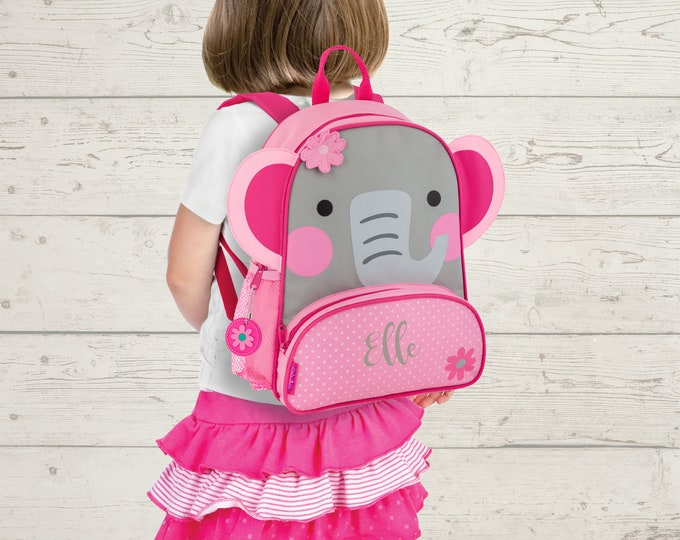 Elephant NEW Style Sidekick Backpack toddler preschool kids FREE Embroidery Personalization NEW design