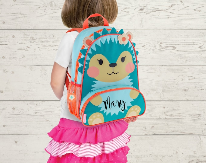 Hedgehog NEW Style Sidekick Backpack toddler preschool kids FREE Embroidery Personalization NEW design