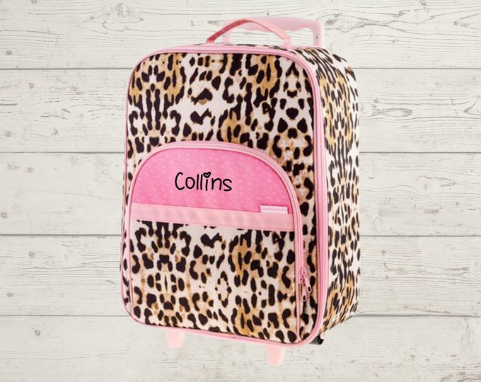 Leopard All Over Print Rolling Luggage FREE Embroidery Personalization