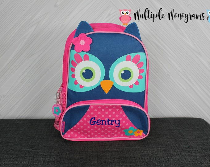 Owl NEW Style Sidekick Backpack toddler preschool kids FREE Personalization NEW design