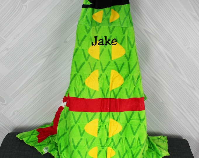 Pirate Crocodile Hooded Beach Towel toddler kids FREE personalization