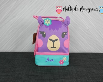 Llama Lunchbox toddler preschool kids FREE personalization NEW design