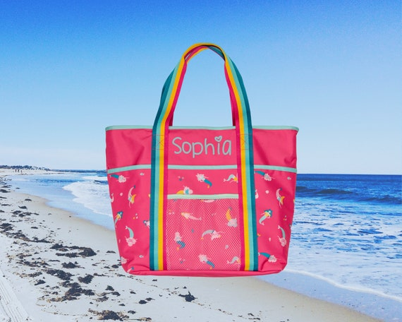 Children's Beach Tote with Embroidery Personalization