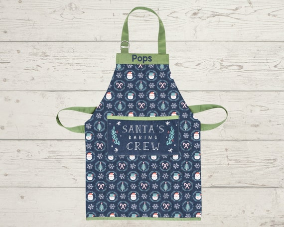 Adult or Kids Christmas Apron with Embroidery Personalization