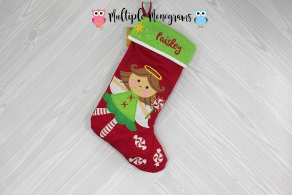 82ea4b4e21d55 Personalized Christmas Stocking Bear Tree Santa Dino
