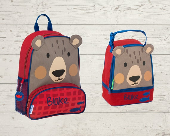 Children's Sidekick Backpack and Lunch Pal Set with Embroidery Personalization