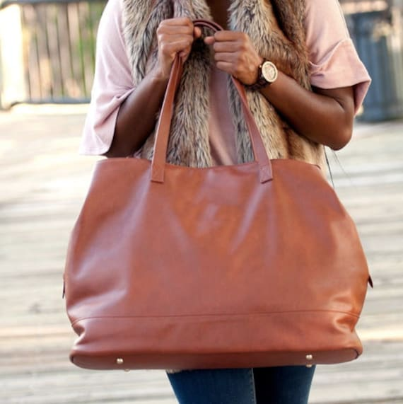 Women's Vegan Leather Travel Bag FREE Personalization Perfect for any occasion