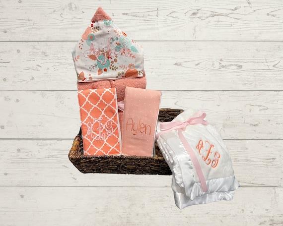The Blessed Baby Gift Basket, Custom for boy or girl, baby shower gift, new baby present, monogrammed baby gift basket