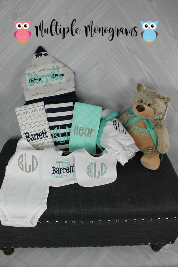I Want It All Baby Gift Basket, Custom for boy or girl, baby shower gift, new baby present, monogrammed baby gift basket