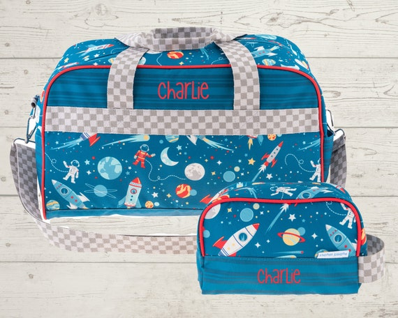 Children's All Over Print Duffel Bag and Toiletry Bag Set FREE Embroidery Personalization