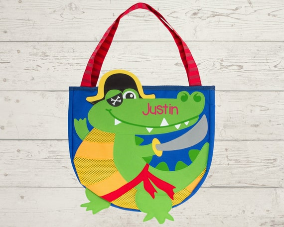 Children's Beach Bag and Sand Toys with Embroidery Personalization