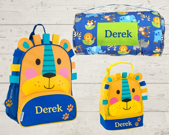 Children's Nap Mat Sidekick Backpack and Lunch Pal Set with Embroidery Personalization