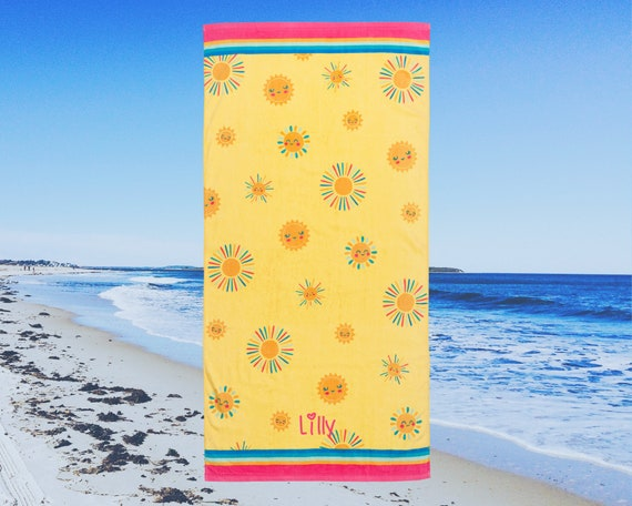 Children's Personalized Beach Towel Embroidery