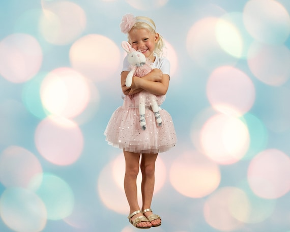 Personalized Girl's Outfit- Embroidered Shirt, Tutu, Headband and optional matching stuffed animal