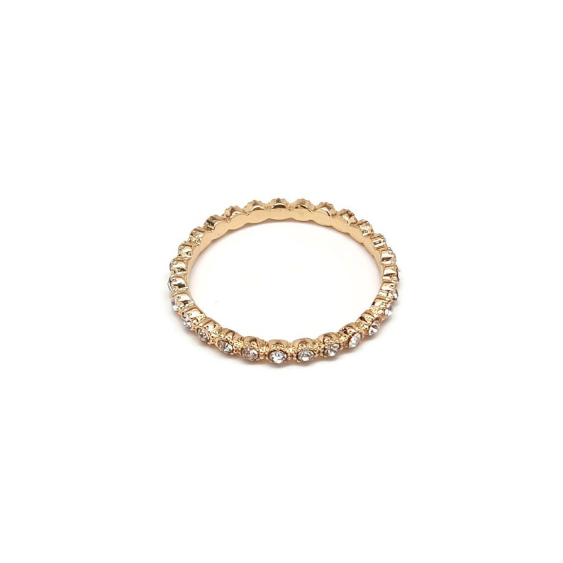 Crystal Gold Ring Delicate Rings Gift Gold Band Ring Gold Ring Cubic Zirconia Ring CZ Ring Minimal Ring Stackable Ring Dainty Ring