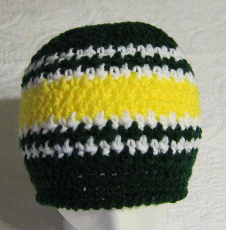 Crochet Beanie,Packers,Sports Beanie,Men/'s Beanie,Skull Cap,Cap,Beanie Cap,Striped Beanie,Hat,Men/'s Hat,Green Bay Packers,NFL Colors