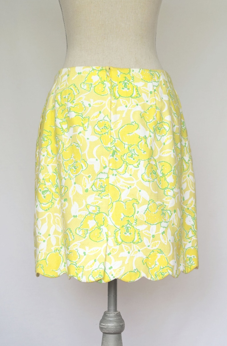 adfcfe315d361a Vintage Lilly Pulitzer Yellow Skirt with Koala Print and   Etsy