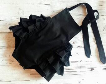 519258018540 Black Bubble Romper - Baby Bubble Romper - Baby Romper- Baby Girl Romper -  Solid Black - Romper - Baby Sunsuit - Photo Prop - Vintage Look