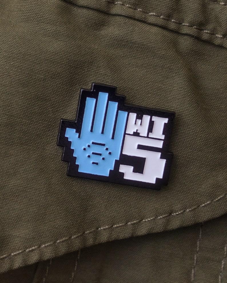Wi-5 Enamel Pin and Sticker Kit image 0