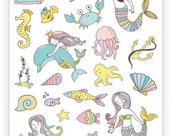 Sea life tattoo | Etsy